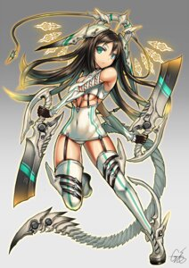 Rating: Safe Score: 51 Tags: garter_belt gia mecha_musume stockings sword tail thighhighs underboob weapon User: Aneroph