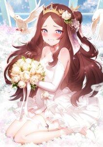 Rating: Questionable Score: 46 Tags: dress fate/grand_order garter leonardo_da_vinci_(fate/grand_order) pregnant rogia see_through wedding_dress User: harukishima