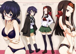 Rating: Questionable Score: 55 Tags: bra breast_hold cleavage girls_und_panzer kurashima_tomoyasu megane oryou_(girls_und_panzer) pantsu saemonza seifuku thighhighs User: drop