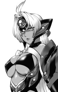 Rating: Safe Score: 9 Tags: cleavage monochrome t-elos ueyama_michirou xenosaga User: Radioactive