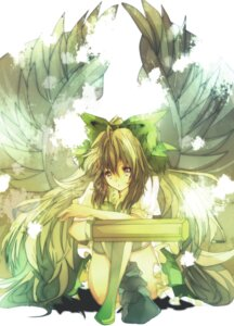 Rating: Safe Score: 10 Tags: kazatabi_lee reiuji_utsuho thighhighs touhou wings User: eridani