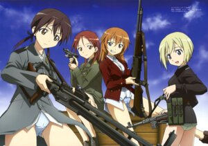 Rating: Questionable Score: 23 Tags: cameltoe charlotte_e_yeager erica_hartmann gertrud_barkhorn gun kouno_yoshitaka minna_dietlinde_wilcke pantsu strike_witches strike_witches_gekijouban uniform User: PPV10