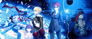 Rating: Questionable Score: 40 Tags: bazett_fraga_mcremitz fate/hollow_ataraxia fate/stay_night fixed jpeg_fix karen_ortensia matou_sakura saber takeuchi_takashi toosaka_rin type-moon User: Burningsoul