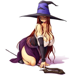 Rating: Questionable Score: 21 Tags: cleavage dragon's_crown no_bra open_shirt sorceress weapon witch yama-michi User: mash