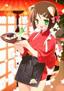 Rating: Safe Score: 25 Tags: animal_ears gayarou tail waitress User: Share