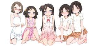 Rating: Questionable Score: 18 Tags: dress feet megane pantsu shouji_ayumu skirt_lift summer_dress User: Nico-NicoO.M.