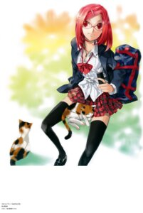 Rating: Safe Score: 16 Tags: kei megane nanako_(kei) neko seifuku User: Radioactive