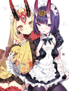 Rating: Questionable Score: 31 Tags: fate/grand_order horns ibaraki_douji_(fate/grand_order) maid pointy_ears shuten_douji_(fate/grand_order) tattoo thighhighs wa_maid yang-do User: Dreista