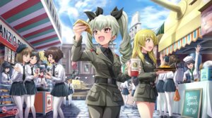 Rating: Safe Score: 31 Tags: akiyama_yukari anchovy carpaccio girls_und_panzer megane pantyhose pepperoni seifuku shamakho uniform watermark User: mash