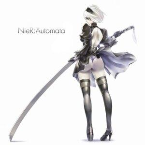 Rating: Questionable Score: 48 Tags: ass dress heels nier_automata pantsu seihou sword thighhighs thong yorha_no.2_type_b User: mash