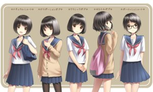 Rating: Safe Score: 30 Tags: character_design megane pantyhose sarekoube seifuku sweater User: hamasen205