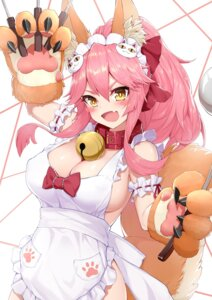 Rating: Questionable Score: 19 Tags: animal_ears fate/grand_order kitsune naked_apron phil tail tamamo_cat User: Mr_GT
