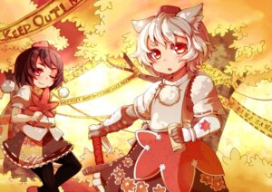 Rating: Safe Score: 16 Tags: animal_ears inubashiri_momiji sacha shameimaru_aya touhou User: hobbito