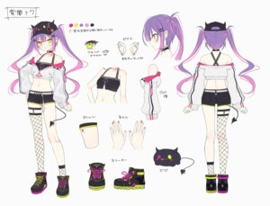 Rating: Questionable Score: 30 Tags: character_design fishnets garter hololive horns rurudo stockings tail thighhighs tokoyami_towa User: zyll