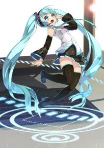 Rating: Safe Score: 47 Tags: btoor hatsune_miku headphones heels pantsu thighhighs vocaloid User: Mr_GT