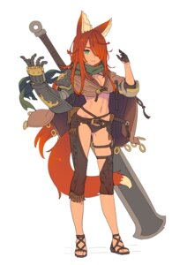 Rating: Safe Score: 24 Tags: animal_ears armor cleavage enkyo_yuuichirou garter pantsu sword tail User: Radioactive