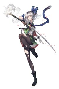 Rating: Safe Score: 66 Tags: kishiyo konpaku_youmu pantyhose sword torn_clothes touhou User: Mr_GT