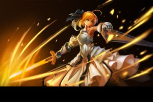 Rating: Safe Score: 45 Tags: armor dress fate/stay_night fate/zero hanshu saber saber_lily sword User: sylver650