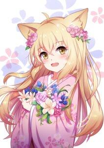 Rating: Safe Score: 55 Tags: akage_kage animal_ears kimono konohana_kitan yuzu_(konohana_kitan) User: Spidey