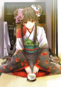 Rating: Safe Score: 80 Tags: kimono taira_tsukune User: fireattack