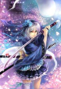 Rating: Safe Score: 34 Tags: abit japanese_clothes konpaku_youmu lolita_fashion myon sword thighhighs touhou wa_lolita User: Mr_GT