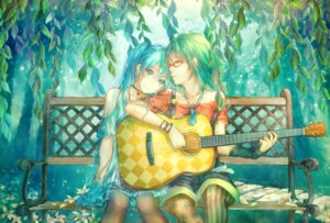 Rating: Safe Score: 33 Tags: guitar gumi hatsune_miku megane pantyhose shichico vocaloid yuri User: Mr_GT