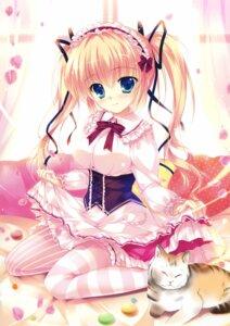 Rating: Safe Score: 104 Tags: dress garter lolita_fashion mikeou neko sheets skirt_lift thighhighs User: Twinsenzw