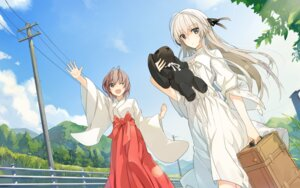 Rating: Safe Score: 40 Tags: amatsume_akira dress kasugano_sora miko miz22 sphere summer_dress wallpaper yosuga_no_sora User: Hatsukoi