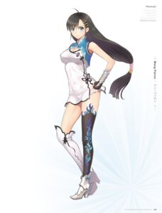 Rating: Questionable Score: 70 Tags: blade_arcus_from_shining_ex chinadress cleavage digital_version heels see_through sega shining_world thighhighs tony_taka wang_pairon User: Twinsenzw