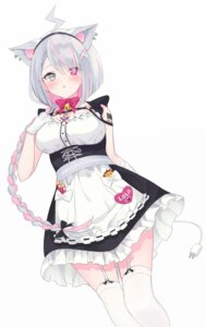 Rating: Questionable Score: 20 Tags: animal_ears heterochromia higashigure maid nekomimi roro-chan stockings tail tattoo thighhighs User: Dreista