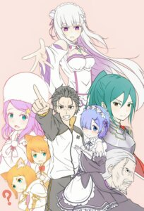 Rating: Questionable Score: 14 Tags: anastasia_hoshin animal_ears armor cleavage crusch_karsten emilia_(re_zero) maid natsuki_subaru re_zero_kara_hajimeru_isekai_seikatsu rem_(re_zero) tagme wilhelm_(re_zero) User: kiyoe