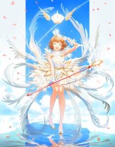 Rating: Safe Score: 18 Tags: card_captor_sakura dress heels kinomoto_sakura skirt_lift user_sgxs7342 weapon wings User: Mr_GT