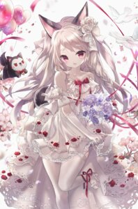 Rating: Safe Score: 62 Tags: animal_ears azur_lane danby_meron dress heels tail thighhighs wedding_dress yuudachi_(azur_lane) User: Mr_GT