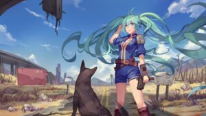 Rating: Safe Score: 51 Tags: atdan cleavage fallout gun hatsune_miku open_shirt vocaloid User: Mr_GT