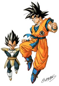 Rating: Safe Score: 5 Tags: dragon_ball son_goku toriyama_akira vegeta User: OZKai2015