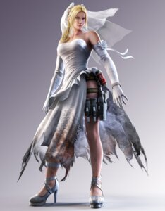 Rating: Safe Score: 39 Tags: blood dress gun heels namco nina_williams tekken torn_clothes weapon wedding_dress User: Yokaiou