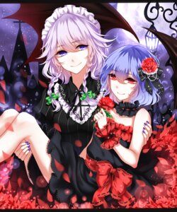 Rating: Safe Score: 30 Tags: dress izayoi_sakuya maid remilia_scarlet sheya touhou wings User: Mr_GT