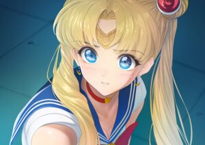 Rating: Questionable Score: 14 Tags: cleavage imizu_(nitro_unknown) sailor_moon seifuku tsukino_usagi User: Dreista