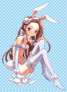 Rating: Questionable Score: 40 Tags: animal_ears bunny_ears judy loli minase_iori the_idolm@ster thighhighs underboob User: blooregardo