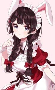 Rating: Safe Score: 45 Tags: animal_ears bunny_ears maid nijisanji sinsihukunokonaka tsukino_mito User: yanis