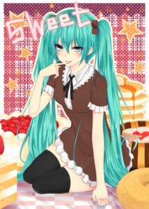 Rating: Safe Score: 28 Tags: dress hatsune_miku nuko_(mikupantu) thighhighs vocaloid User: maurospider