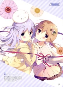 Rating: Safe Score: 50 Tags: dress gochuumon_wa_usagi_desu_ka? hoto_cocoa kafuu_chino pantyhose shiratama sweater User: drop