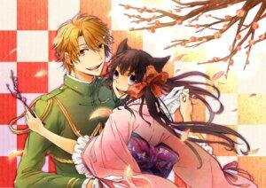 Rating: Safe Score: 8 Tags: agemaki_kei animal_ears japanese_clothes kama_(satoyan) kimono otome_youkai_zakuro zakuro User: charunetra