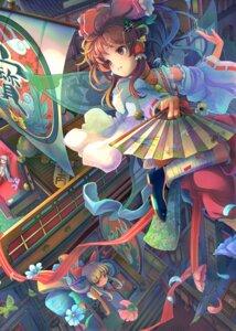 Rating: Safe Score: 20 Tags: fujiwara_no_mokou hakurei_reimu ibuki_suika sanntouhei touhou User: hobbito