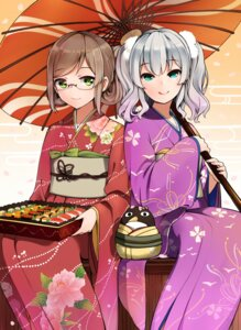 Rating: Safe Score: 25 Tags: kantai_collection kashima_(kancolle) katori_(kancolle) kimono megane umbrella yamano_(yamanoh) User: joshuagraham
