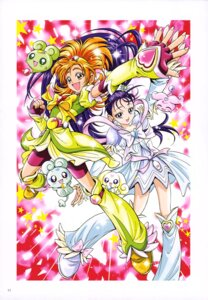 Rating: Safe Score: 3 Tags: bike_shorts dress foop futari_wa_pretty_cure_splash_star hyuuga_saki kamikita_futago mishou_mai moop pretty_cure User: drop