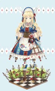 Rating: Safe Score: 30 Tags: alice alice_in_wonderland animal_ears bunny_ears dress ekita_gen heels User: Mr_GT