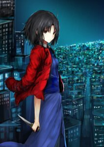 Rating: Safe Score: 36 Tags: kara_no_kyoukai kaze_minoru_so-ru ryougi_shiki weapon User: Noodoll