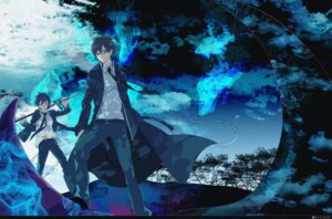 Rating: Safe Score: 16 Tags: ao_no_exorcist emonak male megane okumura_rin okumura_yukio seifuku sword User: charunetra