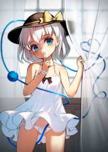 Rating: Questionable Score: 54 Tags: dress komeiji_koishi pantsu pyonsuke0141 skirt_lift string_panties summer_dress touhou User: Mr_GT